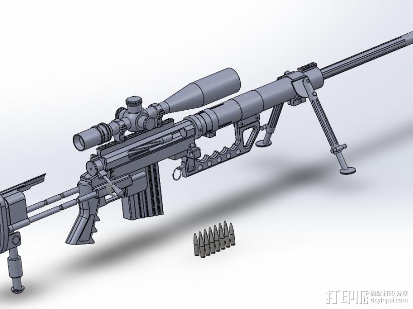 狙击步枪 3D模型  图2
