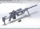 狙击步枪 3D模型 图1
