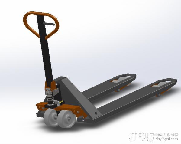 叉车 3D模型  图2