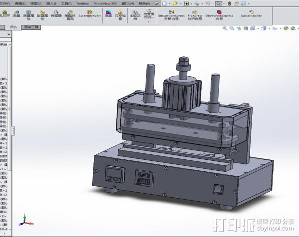 热压力机 3D模型  图1