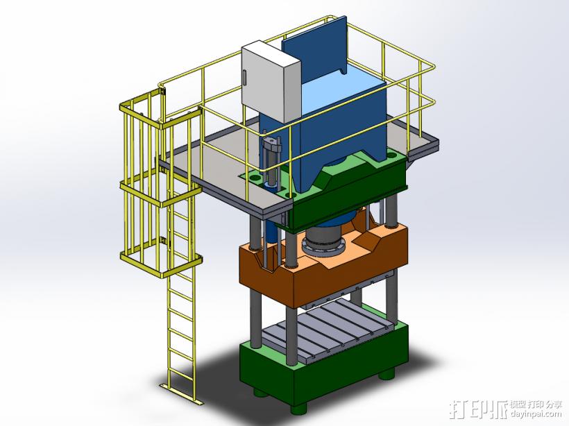 紧密冲床 3D模型  图1