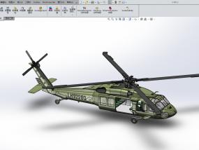 黑鹰直升飞机 3D模型