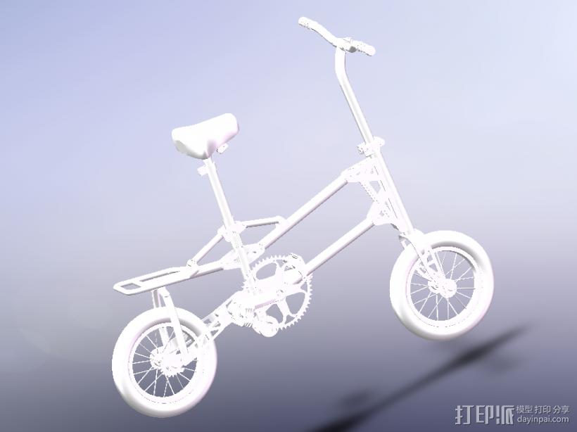 小型自行车 3D模型  图1