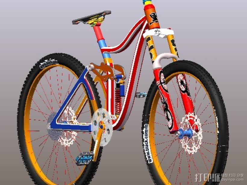 自行车 3D模型  图2