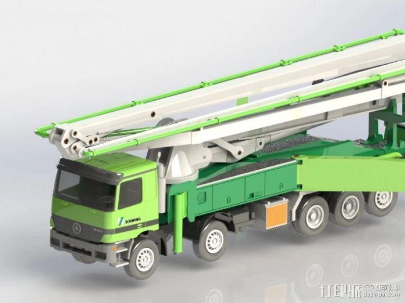 水泥泵车 3D模型  图1