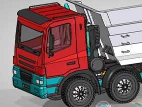 自卸车 3D模型
