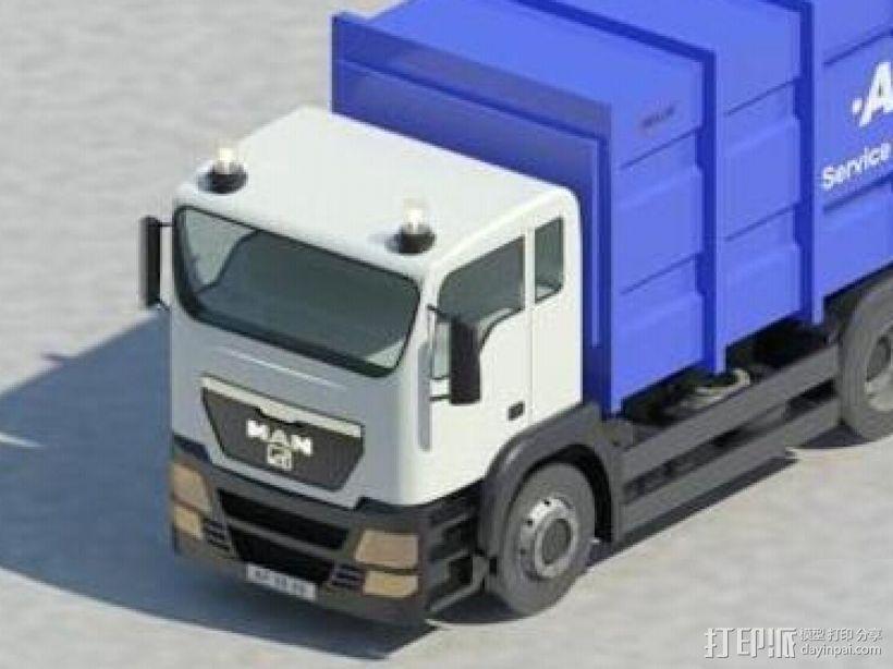 集装箱货车 3D模型  图1