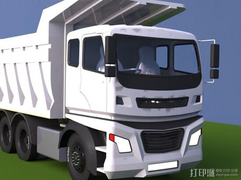 自卸车 3D模型  图1