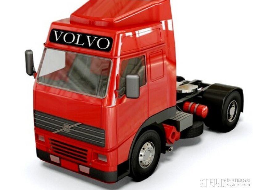 牵引车头 3D模型  图1