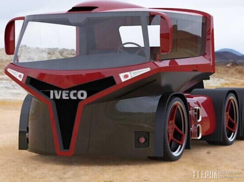 概念车头 3D模型  图1