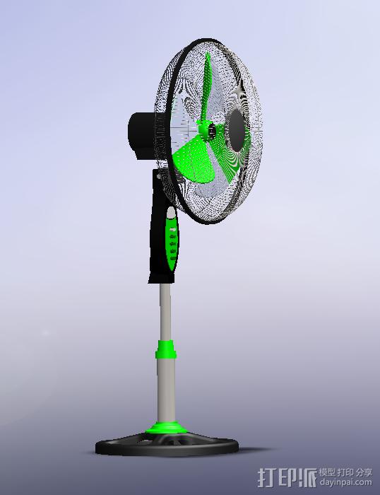 电风扇 3D模型  图2