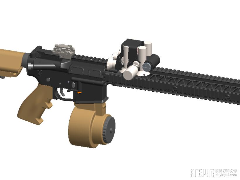 半自动步枪 3D模型  图3