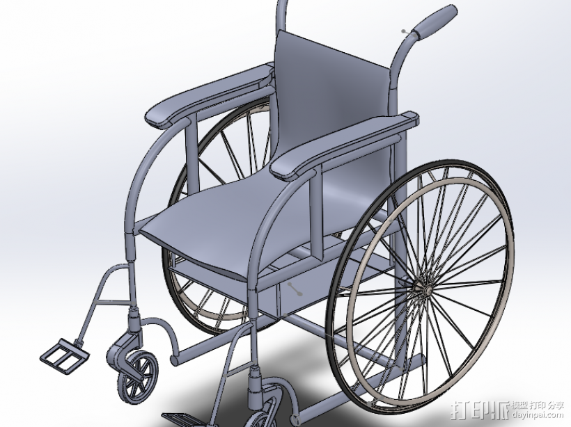 轮椅 3D模型  图2