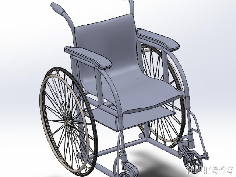 轮椅 3D模型  图1