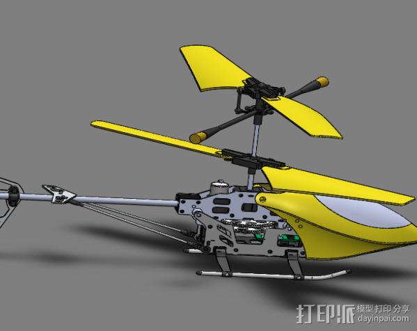 玩具直升飞机 3D模型  图2