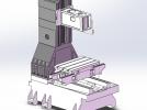 立式加工中心光机模型 3D模型 图1