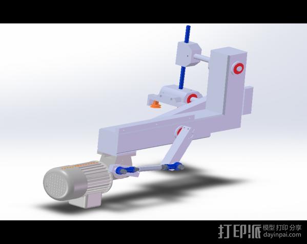 90°取放机构 3D模型  图2