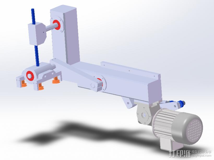 90°取放机构 3D模型  图1