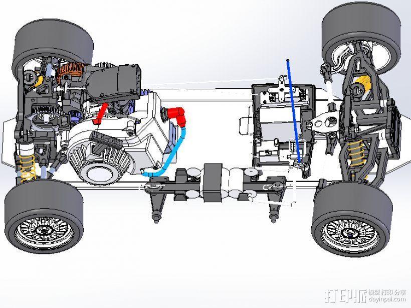 遥控玩具赛车 3D模型  图2