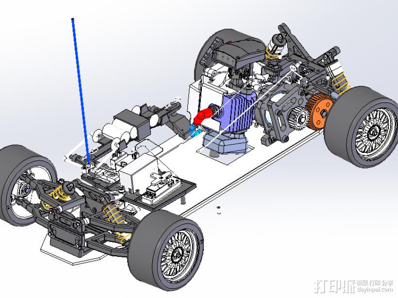 遥控玩具赛车 3D模型  图3