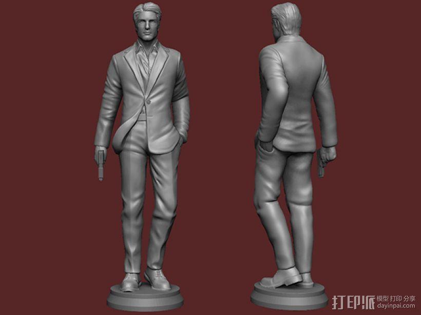《碟中谍5:神秘国度》之伊桑·亨特(汤姆克鲁斯) 3D模型  图1