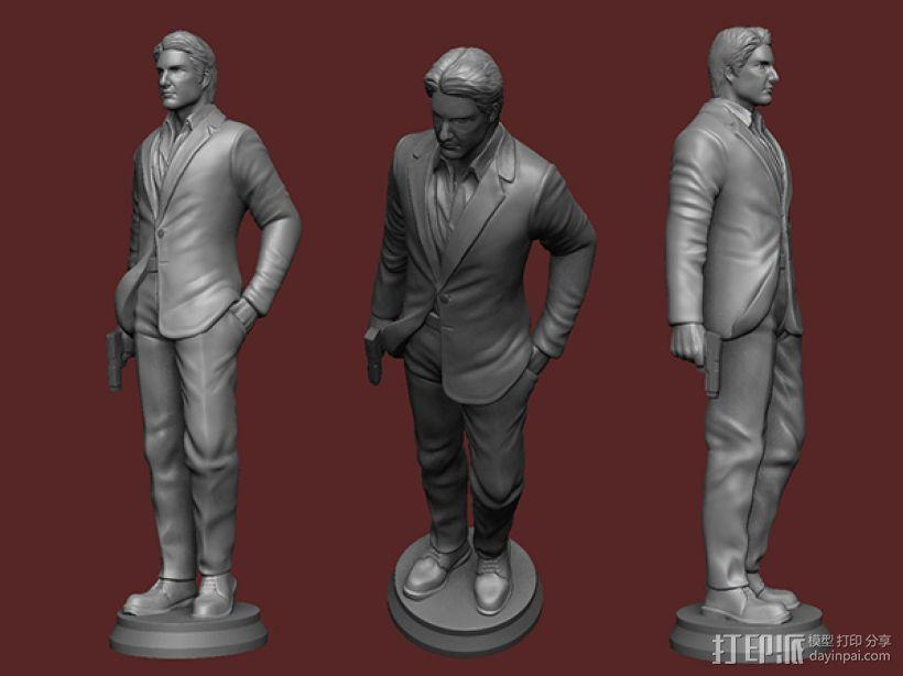 《碟中谍5:神秘国度》之伊桑·亨特(汤姆克鲁斯) 3D模型  图3
