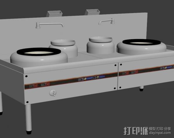 酒店灶 3D模型  图1