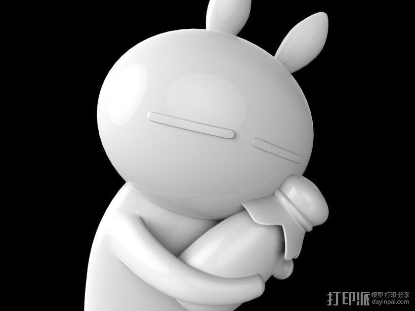 兔斯基玩偶 3D模型  图1