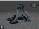 章鱼手机支架 3D模型 图3