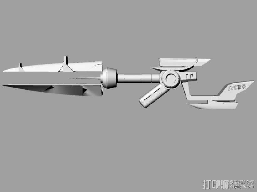 皮城女警武器 3D模型  图1