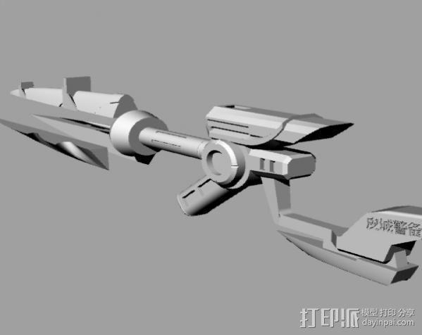 皮城女警武器 3D模型  图2