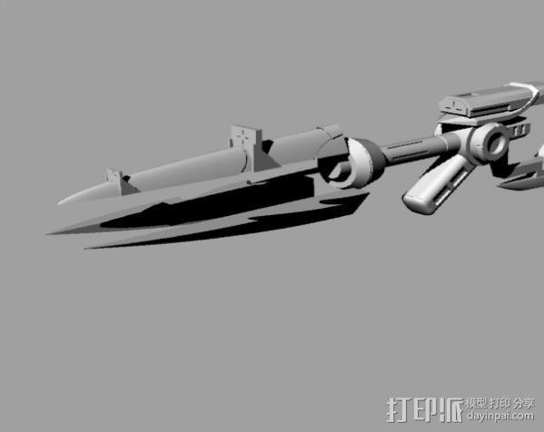 皮城女警武器 3D模型  图3