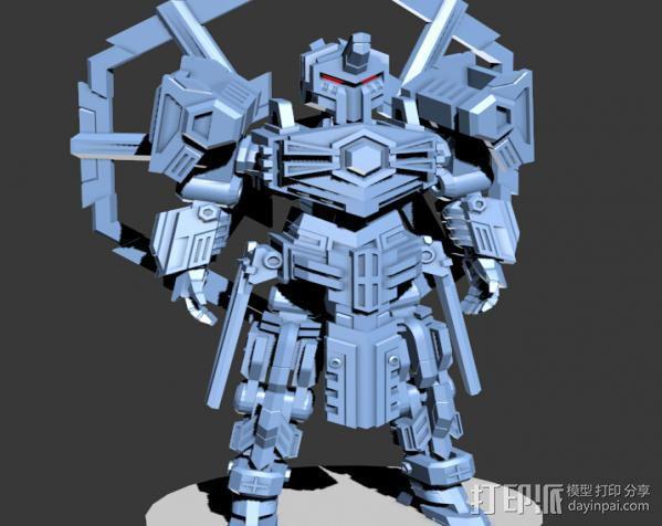 机甲原创设计-圣裁骑士-3D打印原创模型 3D模型  图4