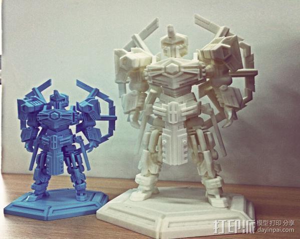 机甲原创设计-圣裁骑士-3D打印原创模型 3D模型  图3