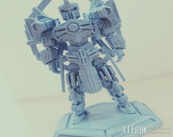 机甲原创设计-圣裁骑士-3D打印原创模型 3D模型  图2
