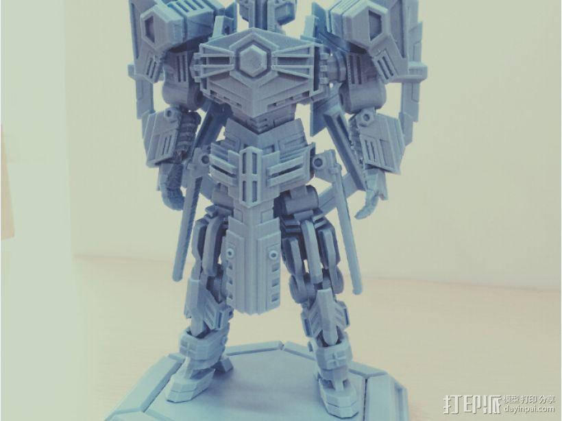 机甲原创设计-圣裁骑士-3D打印原创模型 3D模型  图1