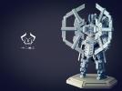 机甲原创设计-圣裁骑士-3D打印原创模型 3D模型 图7