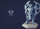 机甲原创设计-圣裁骑士-3D打印原创模型 3D模型 图6