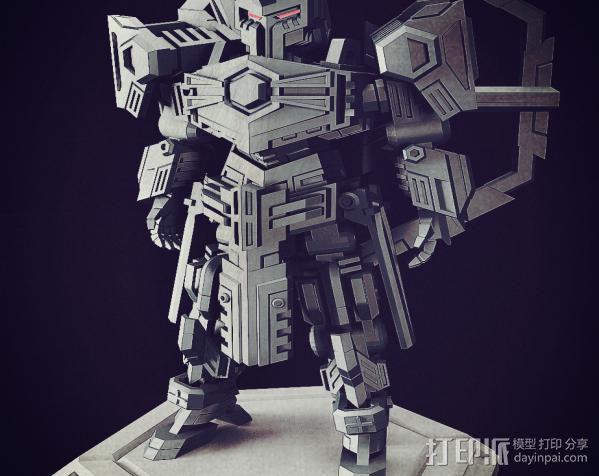 机甲原创设计-圣裁骑士-3D打印原创模型 3D模型  图5