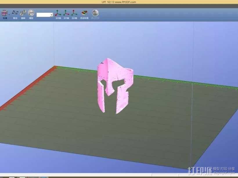 斯巴达300勇士-国王头盔-戒指(原创设计) 3D模型  图3