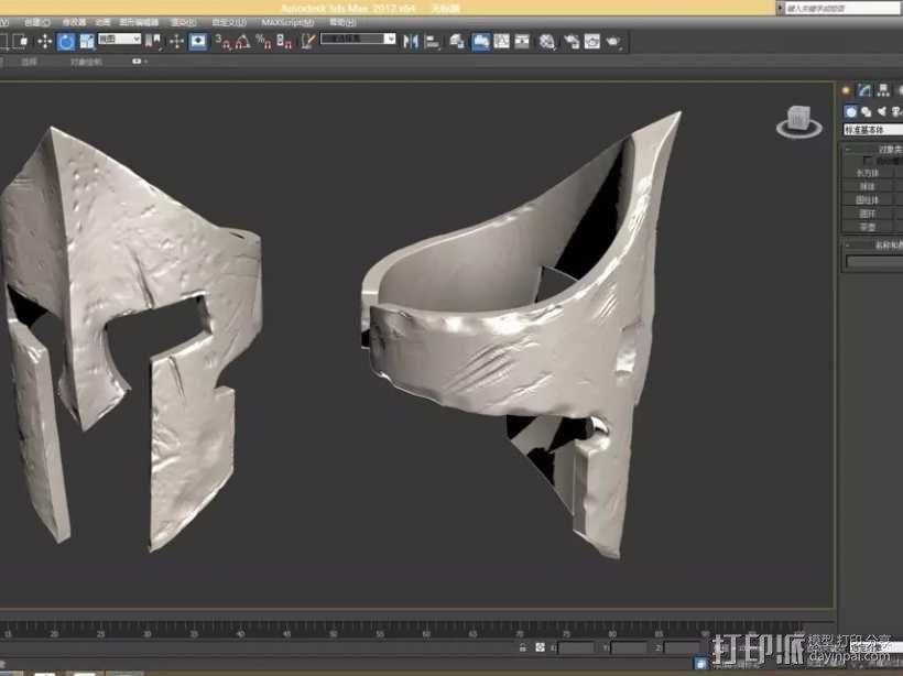 斯巴达300勇士-国王头盔-戒指(原创设计) 3D模型  图4
