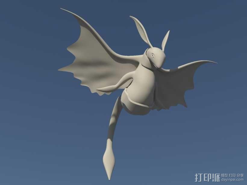 飞鸟 3D模型  图1