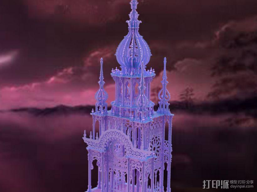 大钟楼 3D模型  图2