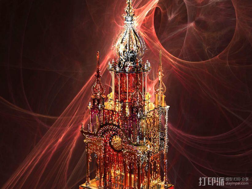 大钟楼 3D模型  图1
