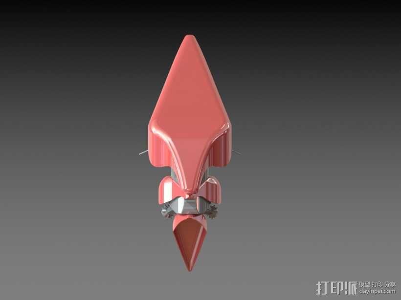 仿迅雷标志组装图 3D模型  图4