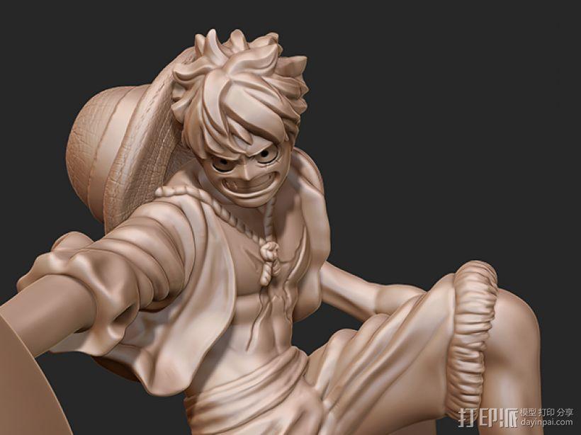 《海贼王》——蒙其·D·路飞(三档象枪!) 3D模型  图3