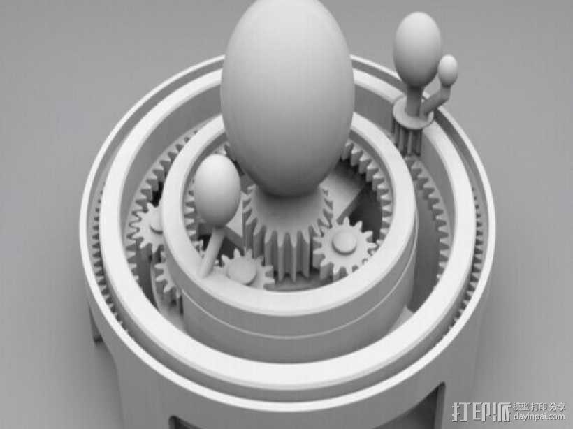 太阳系模拟 3D模型  图1