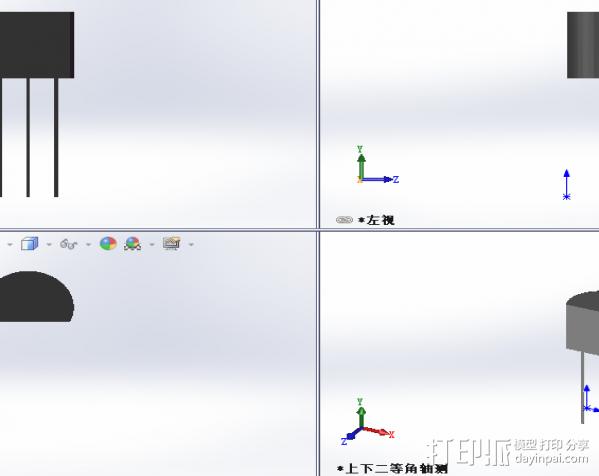 三极管 3D模型  图1