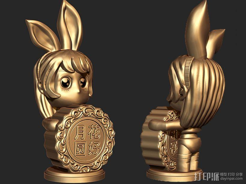 中秋节——兔女郎 3D模型  图2