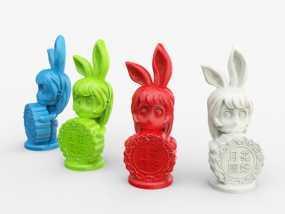 中秋节——兔女郎 3D模型